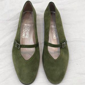 Salvatore Ferragamo New Green Ballet Slippers